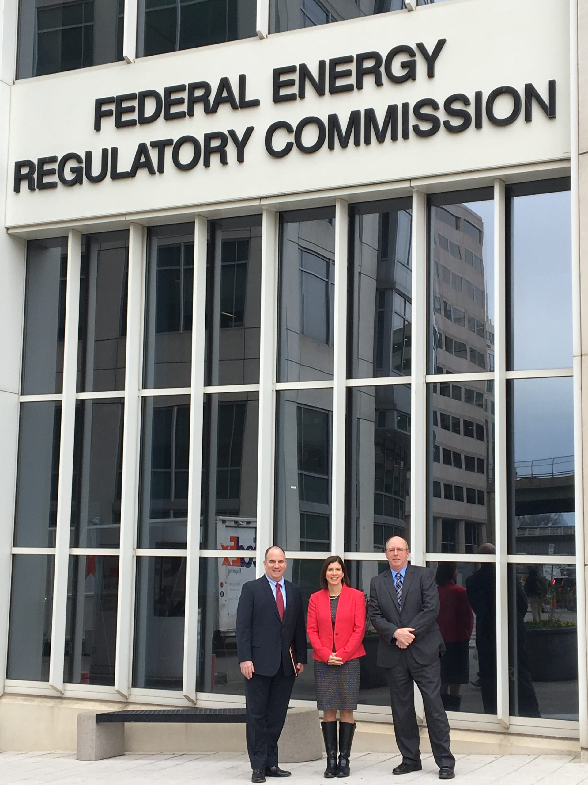 MMWEC representatives visit the Federal Energy Regulatory Commission in March 2018..